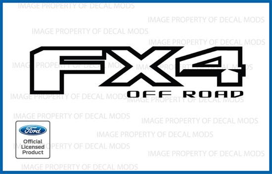 Ford FX4 Off Road Decals Stickers Set - 2013 blackout flat matte black