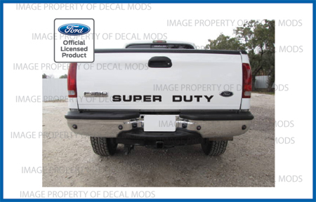 99 07 Ford Super Duty Tailgate Banner Decal Sticker F250 F350