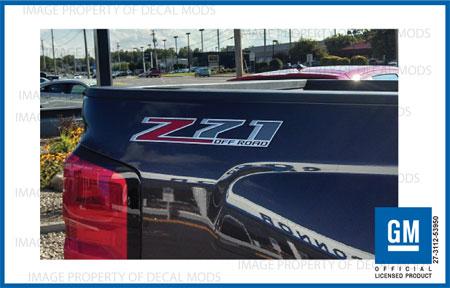 F stickers Parts Chevy Silverado GMC Sierra Truck Bed 4x4 2-2015 Z71 Decals