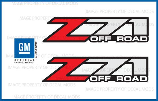 Z71 Off Road Chevy Silverado 2014-2018 Decals Stickers Fade White Stone GRWHTSTN