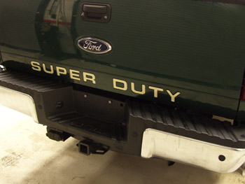 Ford F250 F350 Super Duty Tailgate Letters Inserts Stickers Years. Ford. 2008 Ford F 250 Tailgate Parts Diagram At Scoala.co