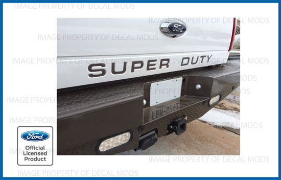 Details about Ford Super Duty Tailgate Letters Inserts Decals Inlays F250  F350 - CARIBOU color